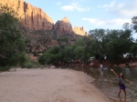 Watchman campground in Zion